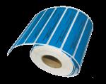 Номерные пломбы-наклейки СКР® 1+ (20х100 мм) горизонтальной вырубки