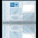 Почтовый пакет с логотипом Почта России 250х353+40 макет № 152