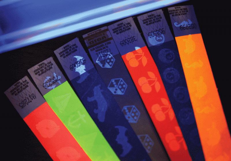 Контрольные браслеты бумажные в Красноярске